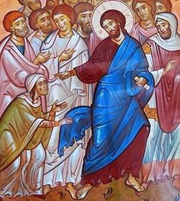 Исцеление Христом кровоточивой женщины